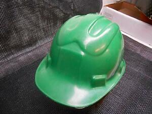 Old Vtg Eastern Safety Equipment Green Coal Miners Tufe Hard Hat Iron Worker Cap