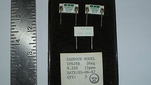 Tf626r 5meg 0 25 15ppm Caddock Precision Film Resistor Qty 3 3444