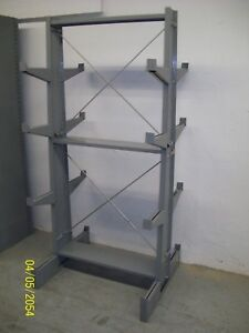 Lyon Double Sided Cantilever Rack 79 T X 36 W X 34 D 12 Arms Bar Pipe Rod