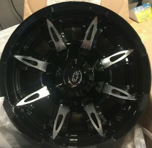 17 Inch Black N Machined Ram 1500 Rims 17x9 5 Lug 139 7 5 5 Set Of 4 Wheels