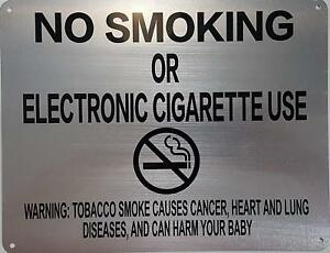 Lot Of 5 nyc Smoke Free Act Sign no Smoking Or Electric Cigarette Use 8 5x11