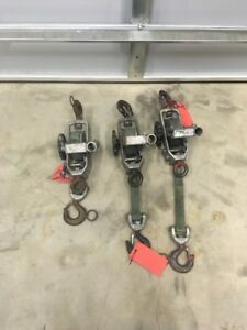 1 Little Mule Model 300a Strap Hoist Puller 1500 3000 Come Along Winch 6266