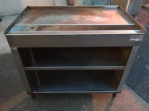 Custom Made Stainless Steel Tea Coffee Station Table W Shelves