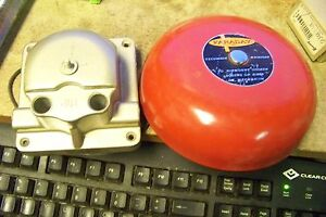 Vtg Faraday 3420 Red Metal Fire Alarm Bell