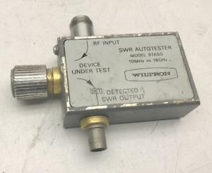 Wiltron Swr Autotester 97a50 10mhz To 18ghz