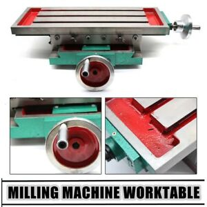 2 axis Cross Slide Bench Drill Press Vise Fixture Milling Compound Work Table Us