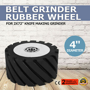 4 Belt Grinder Rubber Wheel For Belt Grinder Tools Sealed Bearings Precision