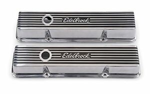 Edelbrock 4262 Valve Cover Elite Ii Sbc 262 400 V8 Low Profile Polished