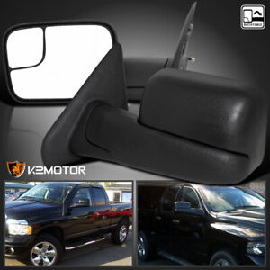 02 08 Dodge Ram 1500 03 09 2500 3500 Tow Extend Flipup Manual Mirrors Left Right