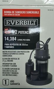 Everbilt 1 2 Hp Submersible Sump Pump With Tether Sba050bc