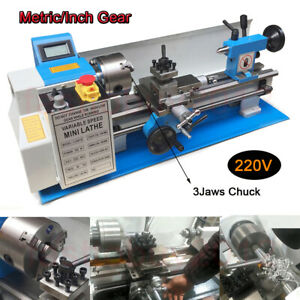 320x820mm 550w Mini Metal Lathe Machine 50 2500rpm Speed Turning Wood Drilling