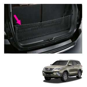 Rear Trunk Cargo Net Genuine Black For Toyota Fortuner Suv 2015 2018
