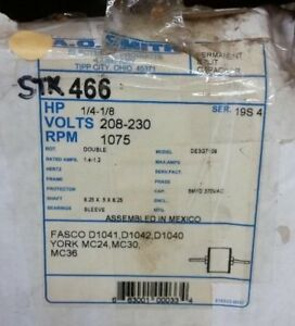 Ao Smith 466 1 4 Hp Permanent Split Capacitor Double Shaft Enclosed Motor