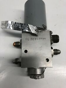 Electrical Actuated Hydraulic Valve 3000 Psi Max 24v Dc Solenoid