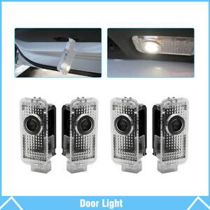 4pcs For Audi Logo Led Car Door Courtesy Welcome Light Ghost Shadow Laser Lamp