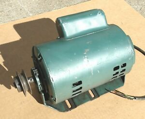 Ge 1 2 Horsepower Single Phase Electric Motor 1 2hp 1140 Rpm 115 230 Volts 115v
