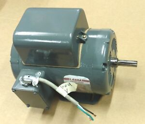 1 1 2hp Baldor Single Phase Electric Motor 1 5hp 3450 Rpm 115 230 Volts 115v 56