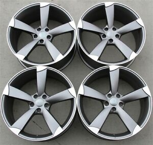 Set 4 20x9 0 New Rs Type Wheels 5x112 35mm Audi A4 S4 A6 Tt A5 Q3 Tiguan Atlas