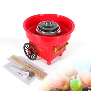 New Electric Cotton Candyfloss Cotton Candy Maker Spun Sugar Making Machine Red