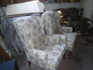 Pair Of Vintage Wingback Chairs