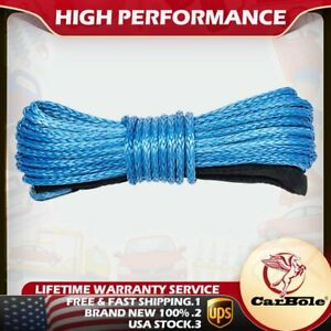 1 4 X 50 Synthetic Winch Rope Line Cable 8200 Lb Capacity For Atv Utv W Sheath