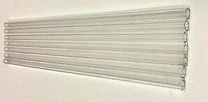 Set By 50 10mm X1mm X 8 long Pyrex Glass Blowing Tubes Clear