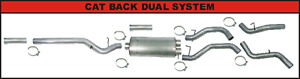 Flo Pro Ss727 Stainless 4 Cat Back Dual Xhaust System Kit Exhaust 01 07 Duramax