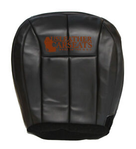99 04 Jeep Grand Cherokee Driver Bottom Synthetic Leather Seat Cover Dark Gray