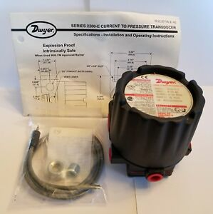 new Dwyer Series 2200 e Current To Pressure Transmitter