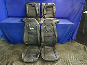 15 16 17 18 Ford Mustang Leather Recaro Seat Covers Front Rear Seats 1