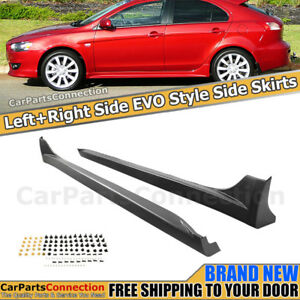 Evo Style Side Skirts For Mitsubishi Lancer 2008 2017 Left Right Rocker Molding