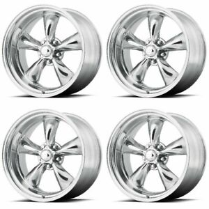Set 4 20 Torq Thrust Ii Vn515 Polished Classic Wheels 20x8 5x5 5 0mm Ford 5 Lug