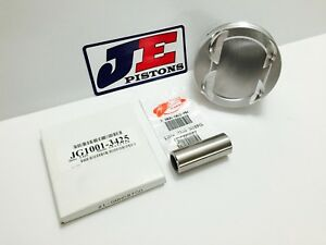 Je 4 155 13 3 1 Flat Top Pistons For Chevy 400 23deg Sbc 6 0 Rod 4 0 Stroke