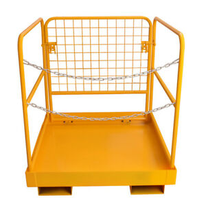 Heavy Duty Forklift Safety Cage Steel Work Platform 749lb Capacity 36 x36