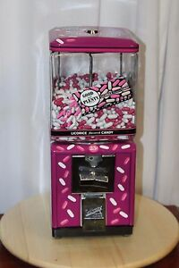 Vintage 1950s Northwestern Good And Plenty Themed Gumball Candy Machine 25 Cent