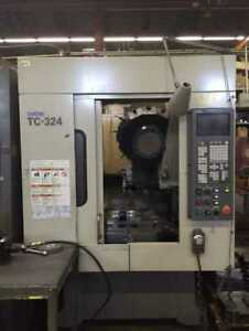 1998 Brother Model Tc 324n Cnc Drilling Tapping Center Auto Quick table Pallet
