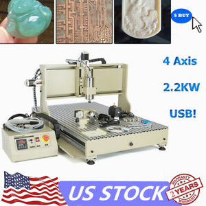 2200w 4axis 6090 Usb Vfd Cnc Router Engraver Metal Woodworking Engraving Milling