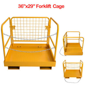 36 x29 Forklift Safety Cage Work Platform Heavy Duty Collapsible Lift Basket