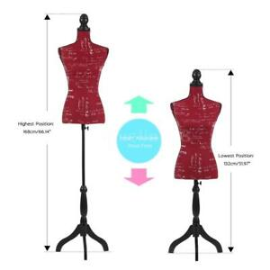 Store Dress Form Female Mannequin Torso Dressmaker Tripod Stand Display Red Y6f5