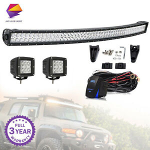 54 4 Curved Led Light Bar Roof For Chevy Silverado Gmc Sierra 1500 2500 3500