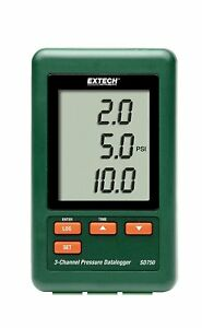 Extech Sd750 3 channel Pressure Datalogger Records Data To Sd Card Rrp 375
