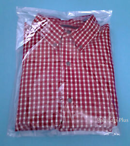 200 12x18 Clear Plastic Poly Bags 1mil Open Top Ldpe T shirt Tee Shirt Baggies
