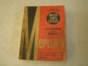 Oem Ford 1956 1957 1958 Mercury Master Parts Book Turnpike Cruiser Montclair