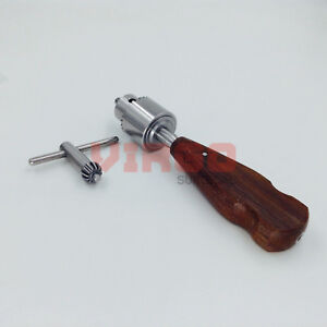 Orthopedic Bone Hand Drill Wood Handle Veterinary Orthopedic Instrument