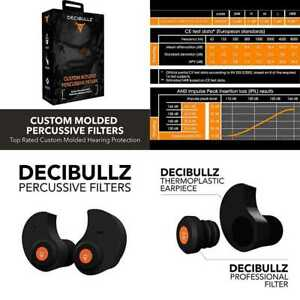 Decibullz Custom Molded Percussive Filters Hearing Protection