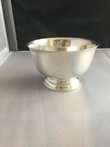 Cartier Sterling Paul Revere Reproduction Sterling Silver Bowl 5 Diameter 3 5