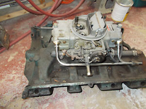 Ford Fe 352 390 406 410 427 428 Cast Iron Intake Manifold 4bbl With Carb