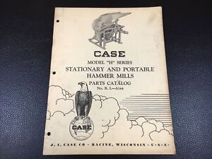 Original Case H Series Stationary And Portable Hammer Mills Parts Catalog Ria144