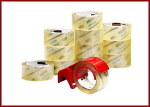 Scotch Commercial Grade Shipping Packaging Tape 1 88 In X 54 6 Yd 12 Rolls W Ref