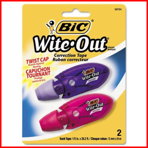 Bic Wite Out Mini Twist Correction Tape White 12 Tapes Writing Instrument